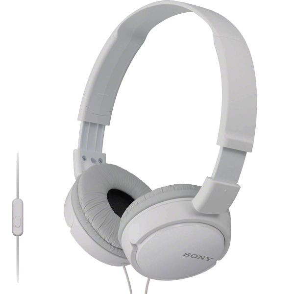 Auscultadores c/ microfone Sony - MDR-ZX110APW